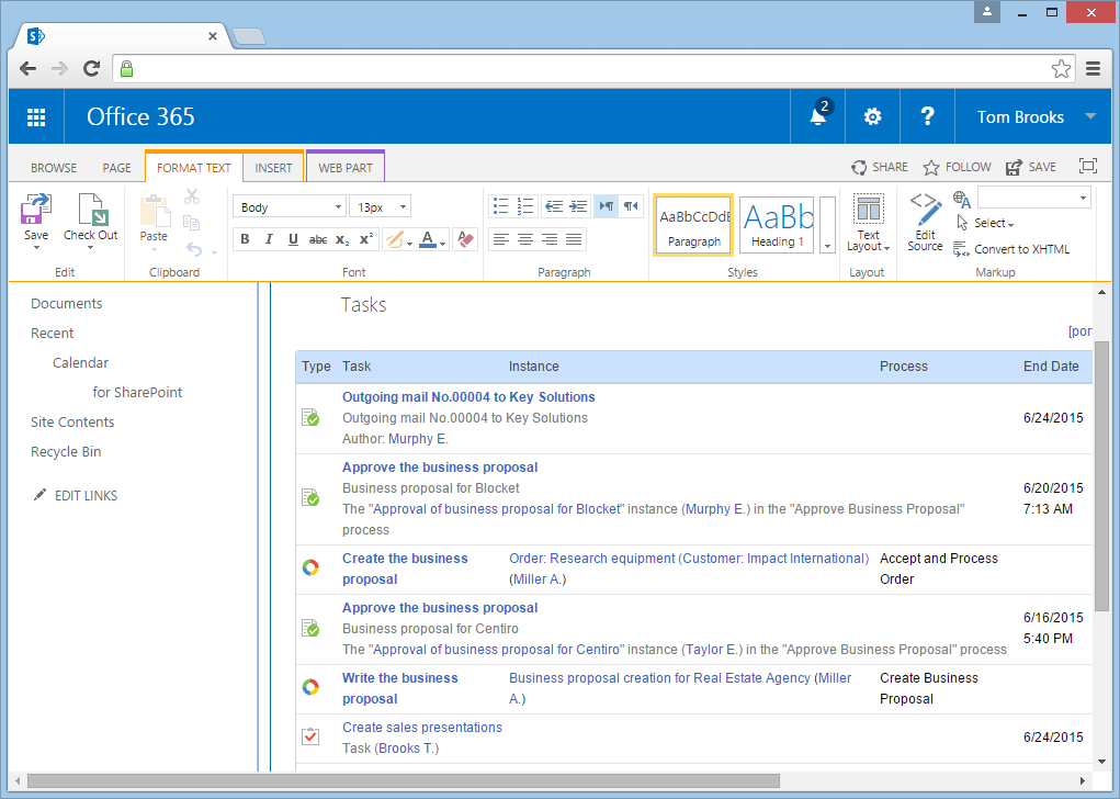 Contentum for MS SharePoint